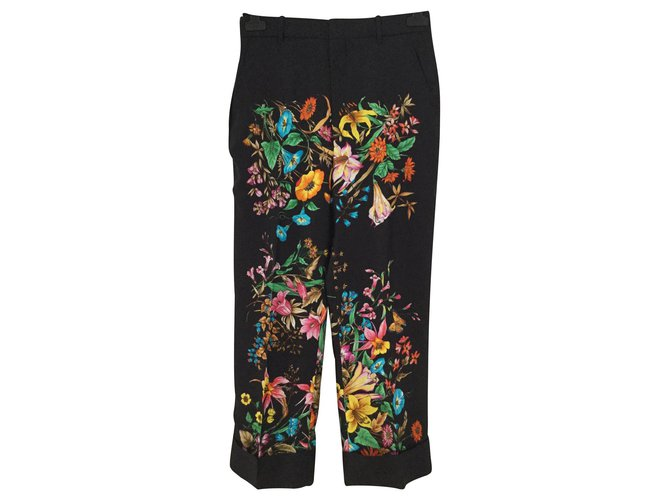 Pantalons Gucci Pantalons, leggings Soie Multicolore ref.147195
