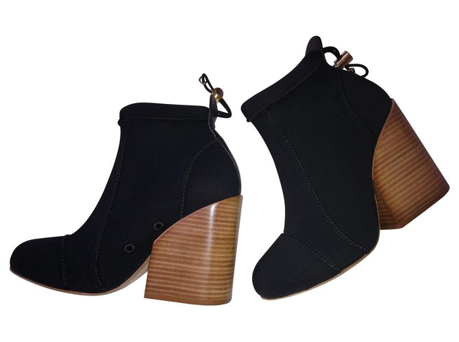 Chloé Ankle Boots Ankle Boots Polyester Black ref.147215