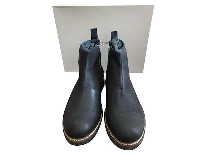 Damir Doma DAMIR DOMA MEN'S LOW BOOTS Boots Leather Black ref.147342