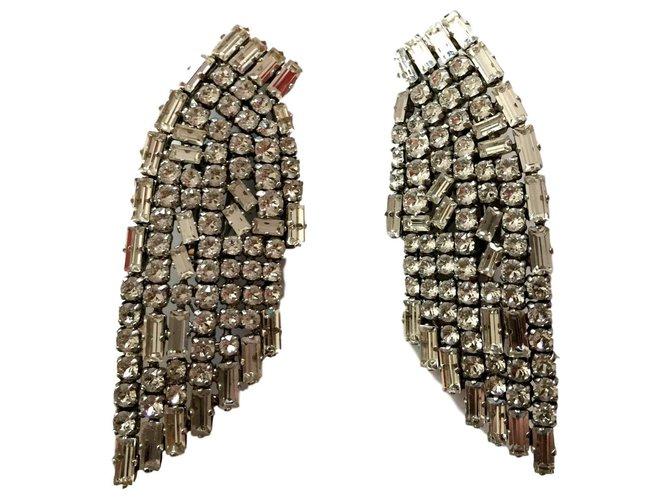 Boucles d'oreilles Saint Laurent Boucles d'oreilles Métal Argenté ref.147422