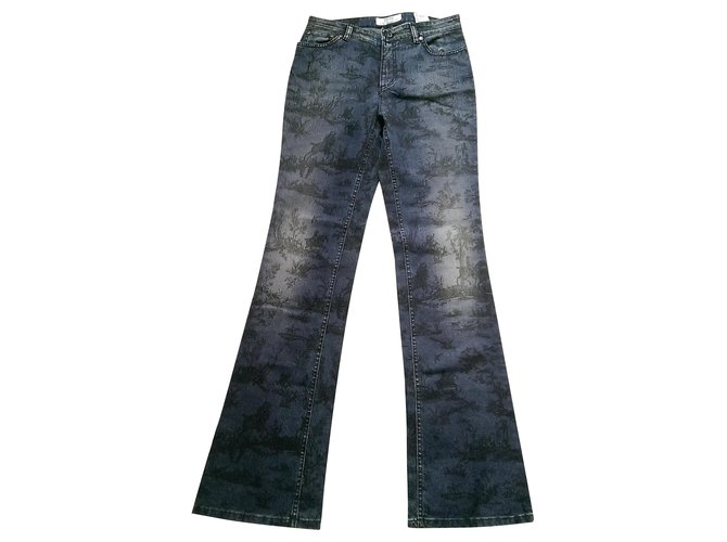 Jeans Cerruti 1881 jeans Coton,Elasthane Bleu ref.147492