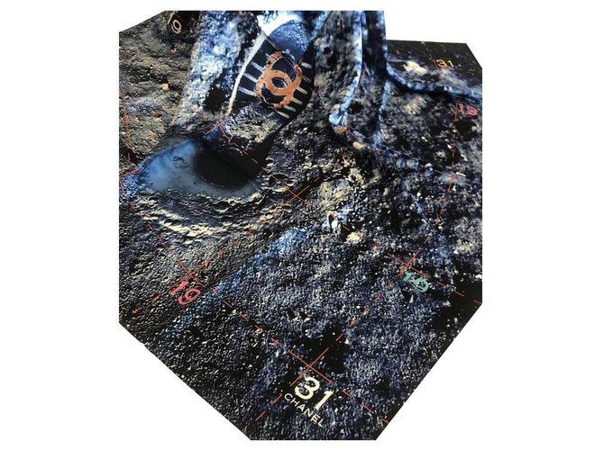 Chanel SILK SCARF CHANEL Scarves Silk Navy blue ref.147562
