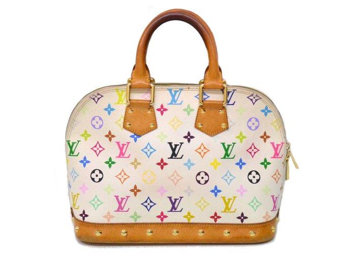 Sacs à main Louis Vuitton Louis Vuitton Alma Toile Doré ref.147792