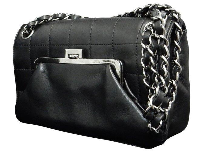 Sacs à main Chanel Chanel Vintage Sac à bandoulière Cuir Noir ref.147843