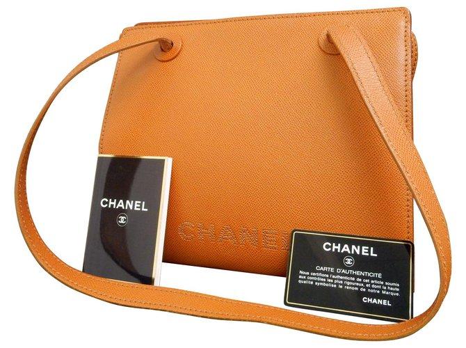 Sacs à main Chanel Chanel Vintage Sac à bandoulière Cuir Marron ref.147919