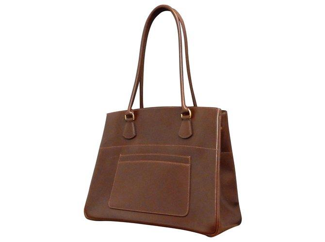 Hermès Hermès Vintage Shoulder Bag Handbags Leather Brown ref.148303