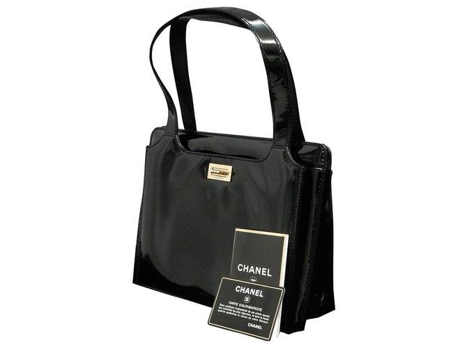 Sacs à main Chanel Chanel Vintage Sac à bandoulière Cuir Noir ref.148496