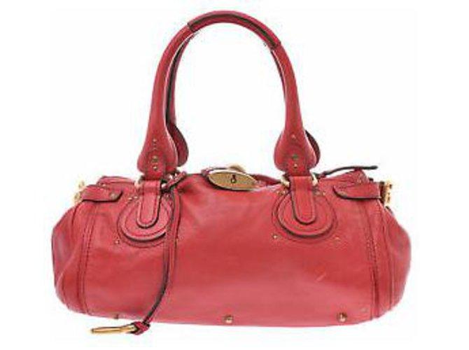 Chloé CHLOÉ PADDINGTON Handbags Leather Red ref.148567