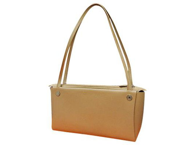 Hermès Hermès Vintage Shoulder Bag Handbags Leather Beige ref.148665