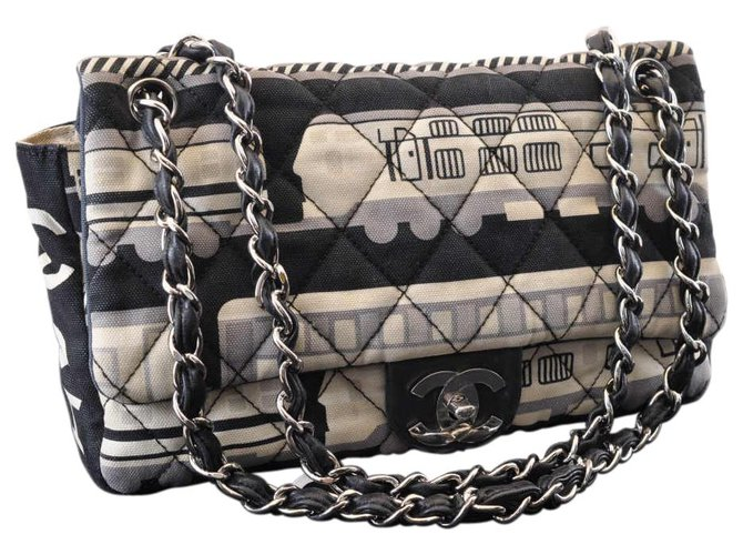 Chanel Chanel Timeless/Classique Handbags Cloth Black ref.148677