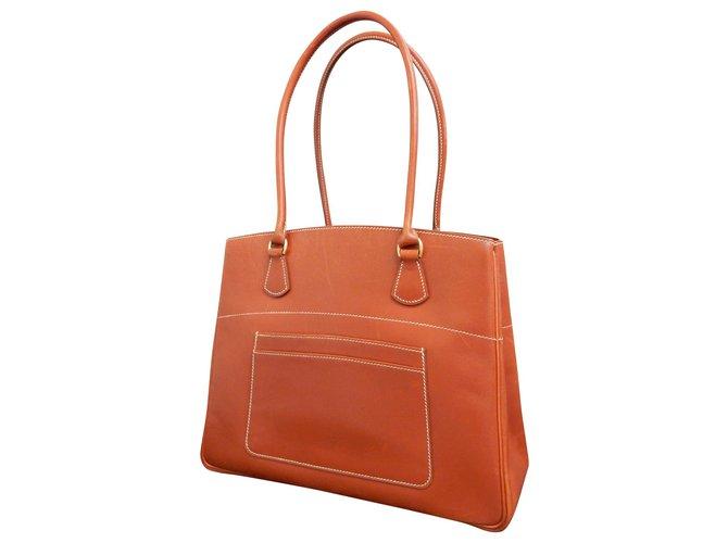 Hermès Hermès Handbag Handbags Leather Brown ref.148741