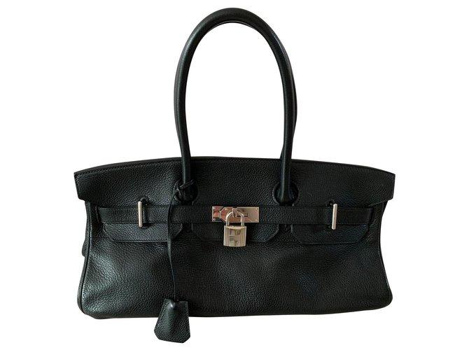 Sacs à main Hermès Birkin Shoulder Cuir Noir ref.149144