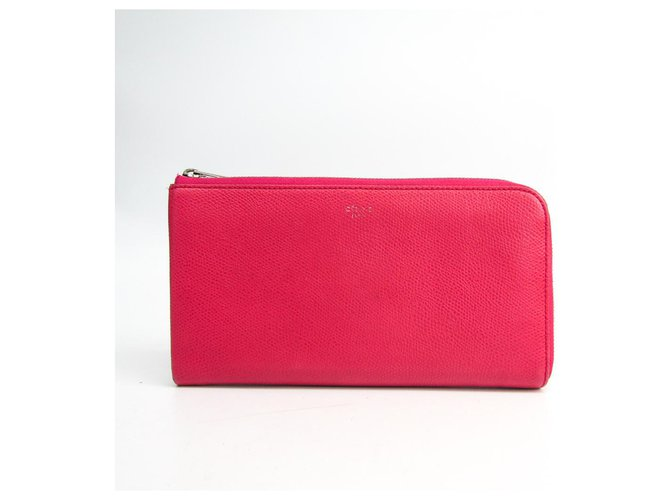 Céline Celine Pink Leather Mutlifunction Long Wallet Purses, wallets, cases Leather,Pony-style calfskin Pink ref.149270