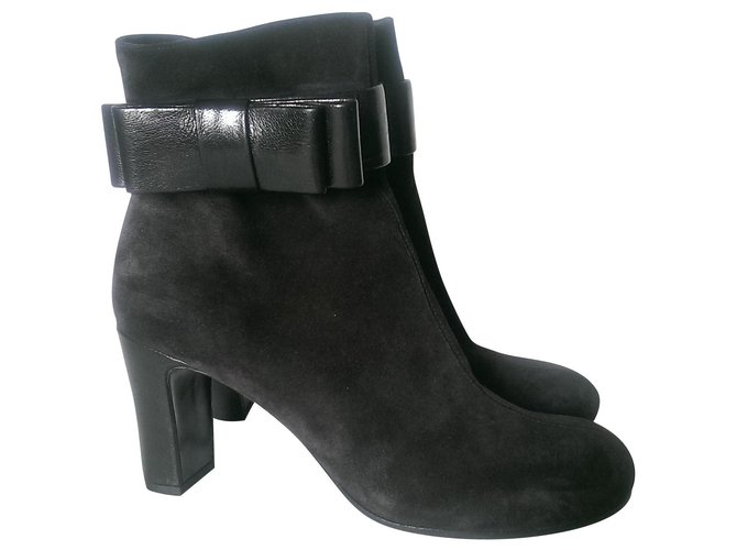 Chie Mihara Ankle Boots Ankle Boots Leather,Deerskin Black ref.149359