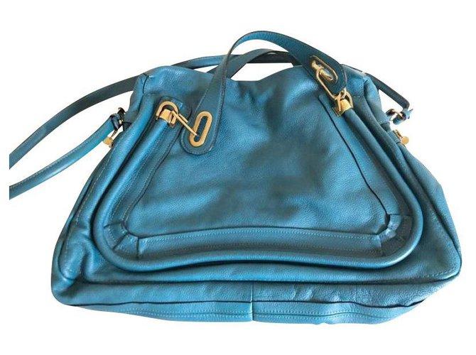 Chloé Handbags Handbags Leather Blue ref.149373