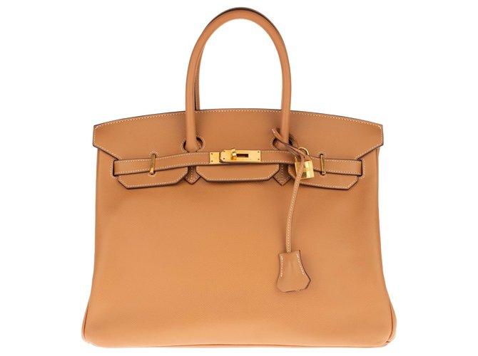 Sacs à main Hermès Hermès Birkin 35 en cuir Epsom Gold, accastillage en plaqué or, en très bon état ! Cuir Doré ref.149605