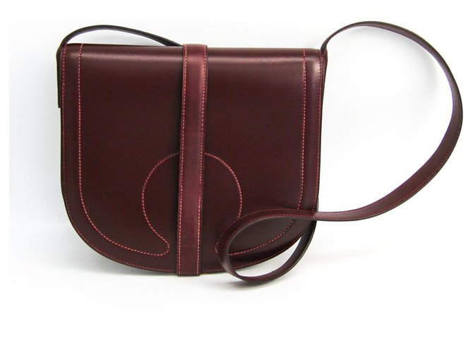 Hermès Hermes Red Leather Crossbody Bag Handbags Leather,Pony-style calfskin Red,Other ref.149745