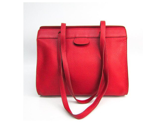 Hermès Hermes Red Togo Muzo Handbags Leather,Other Red ref.149759