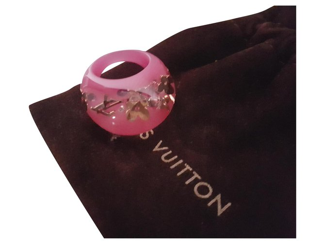 Bagues Louis Vuitton occlusions Résine Rose ref.149771