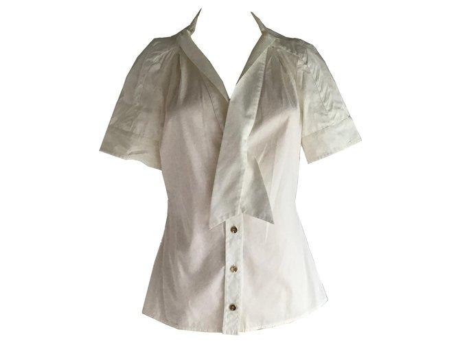 Tops Gucci Gucci Chemisier boutonné Coton Blanc ref.149814
