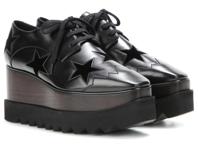 Stella Mc Cartney shoes stella mcCARTNEY NEW Sneakers Leather Black ref.149886