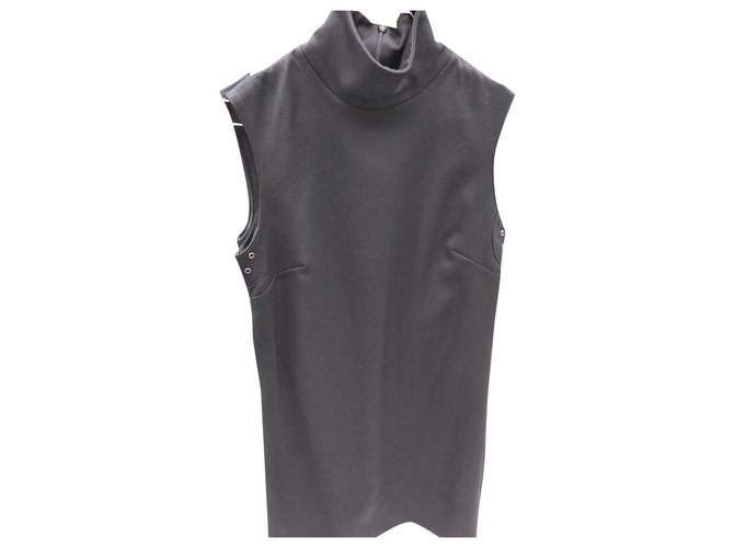 Burberry BURBERRY dress Dresses Wool Black ref.150016