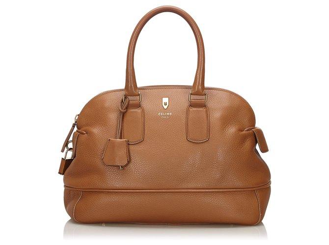 Céline Celine Brown Leather Handbag Handbags Leather,Other Brown ref.150094