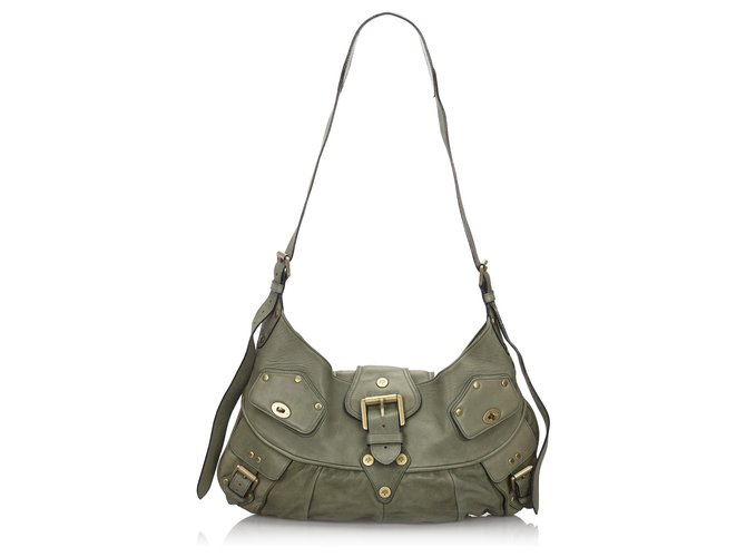 Mulberry Mulberry Green Leather Joni Handbags Leather,Other Green,Dark green ref.150101