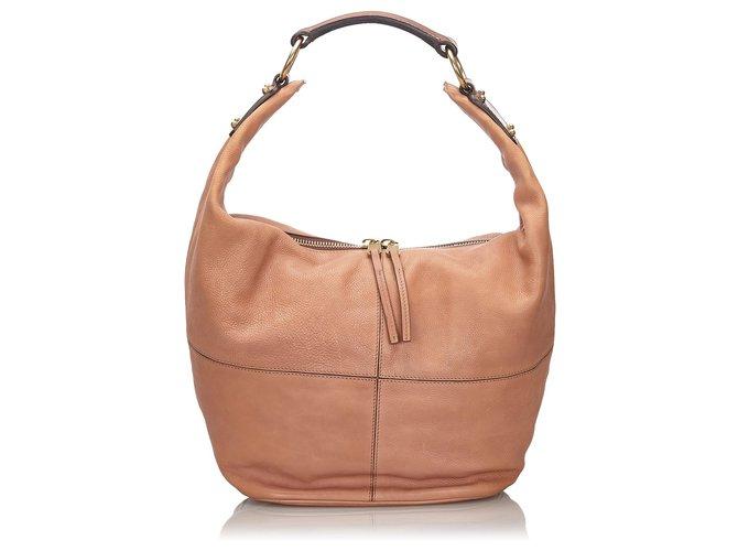 Céline Celine Pink Leather Shoulder Bag Handbags Leather,Other Pink ref.150146