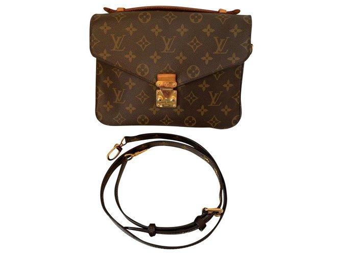 Louis Vuitton Metis Handbags Leather Brown ref.150176