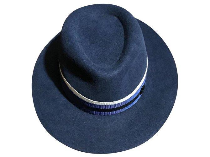 Maison Michel Andrew Hats Rabbit Blue ref.150180