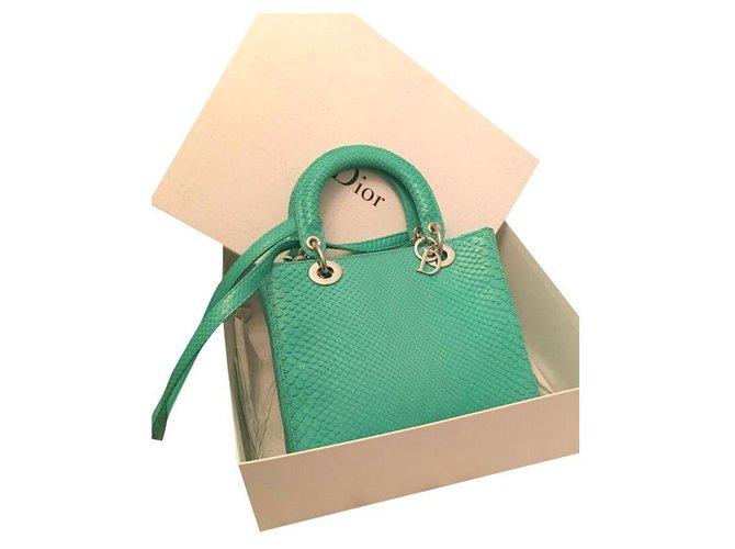 Dior Handbags Handbags Python Green ref.150185