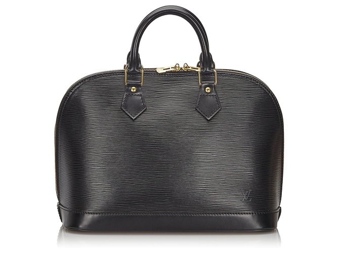 Sacs à main Louis Vuitton Louis Vuitton Black Epi Alma PM Cuir Noir ref.150298