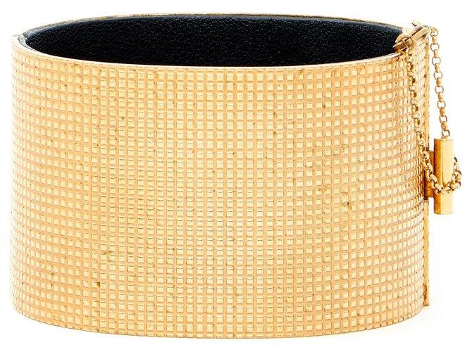 Bracelets Céline DIAMOND SHAPED MINIMAL M Métal Doré ref.150663