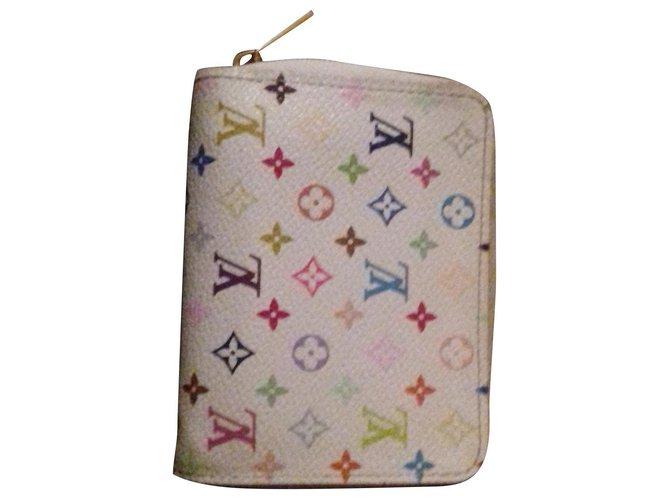 Louis Vuitton Zippy Purses, wallets, cases Leather White ref.150819