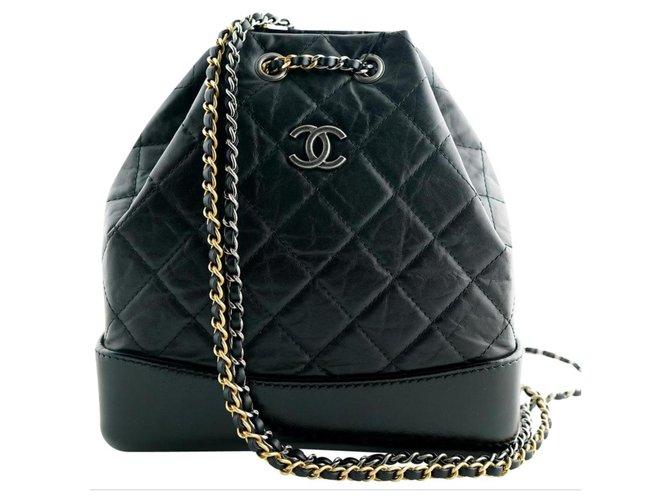 Chanel Backpacks Backpacks Lambskin Black ref.151078