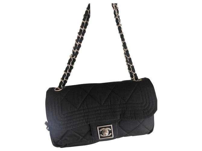 Chanel TIMELESS Handbags Satin Black ref.151129