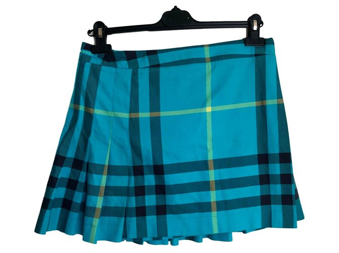 Burberry Skirts Skirts Cotton Turquoise ref.151254