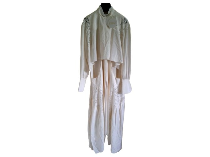 Chloé Dresses Dresses Acetate White ref.151352
