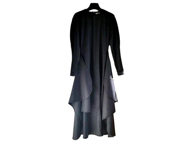 Céline Dresses Dresses Wool Dark grey ref.151369