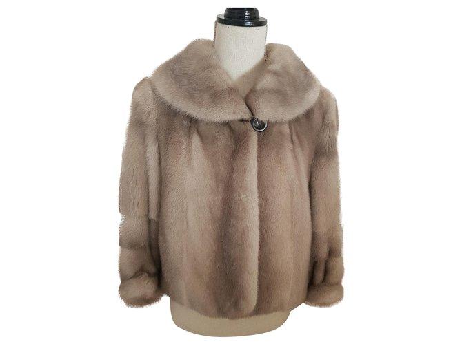 Yves Salomon Yves Salomon short mink Jackets Fur Beige ref.151504