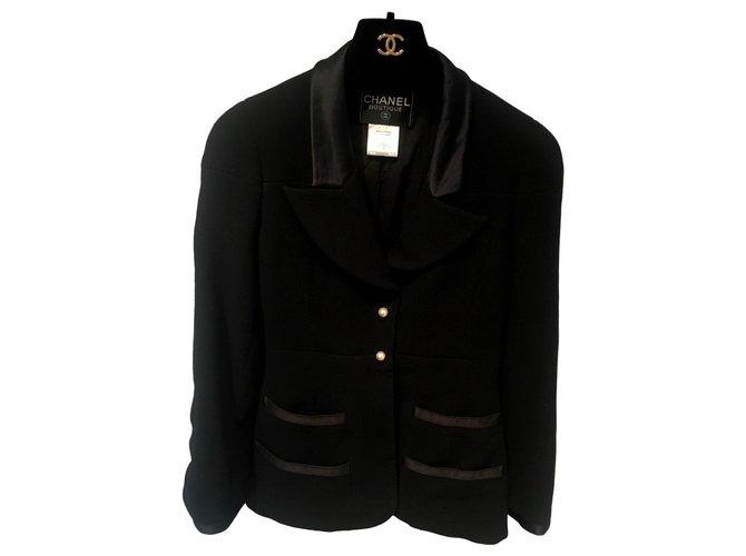 Chanel Jackets Jackets Wool Black ref.151780