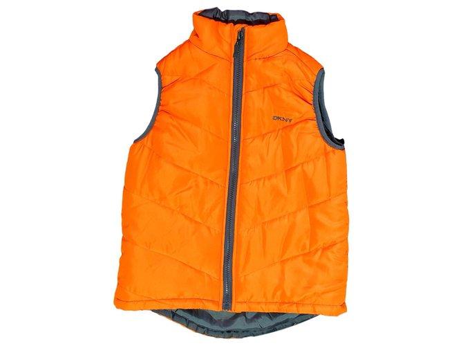 Combinaison garçon Dkny Veste une pièce Polyester Orange ref.151806