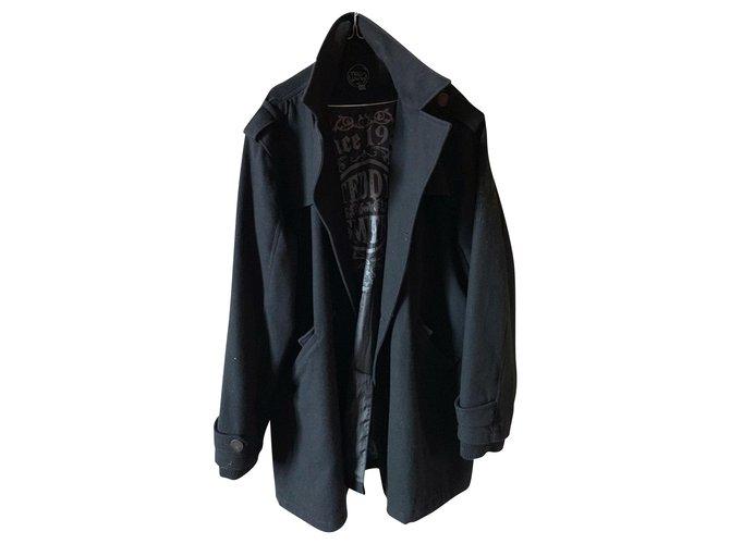Teddy Smith Men Coats Outerwear Men Coats Outerwear Wool Black ref.151981