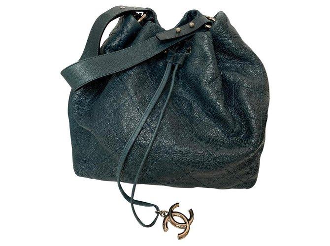 Sacs à main Chanel Chanel shopping Cuir Bleu,Vert ref.152411