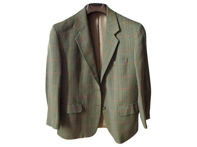 Burberry BURBERRY, small check jacket, 44. Jackets Wool Beige ref.152421