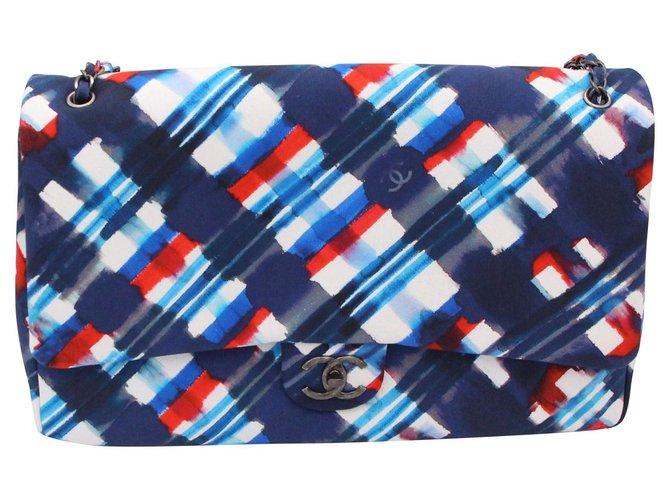 "Chanel Chanel, XXL Timeless bag, Limited Edition ""Timeless"", 2016-2017 Handbags Cloth Blue ref.153139"