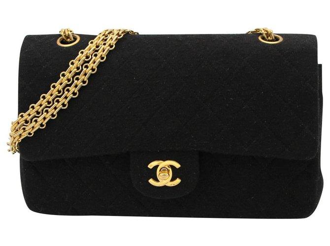 Chanel Vintage CHANEL bag, Timeless model, CIRCA 1986-1988 Handbags Cloth Black ref.153144