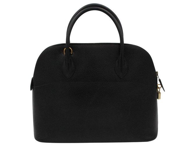Hermès Hermes vintage bag, Bolide model, 1970 Handbags Leather Dark blue ref.153147