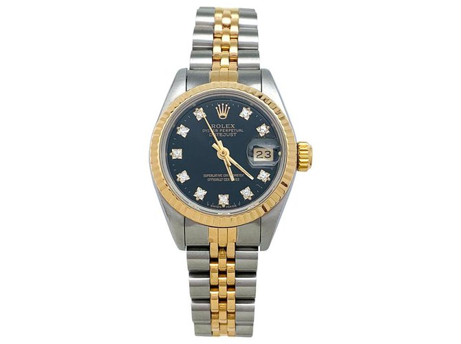 """Rolex Rolex """"Oyster Perpetual Date"""" watch in steel, Yellow gold and diamonds. Fine watches Other,Steel,Yellow gold Other ref.153208"""
